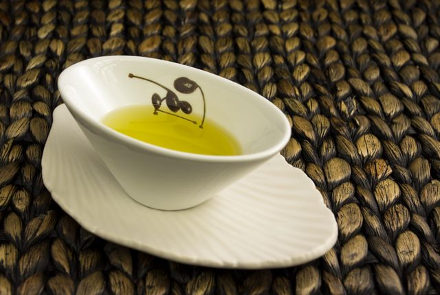Home made face mask with olive oil