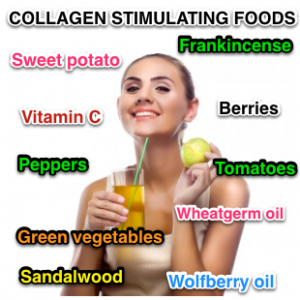 Collagen stimulating foods for skin